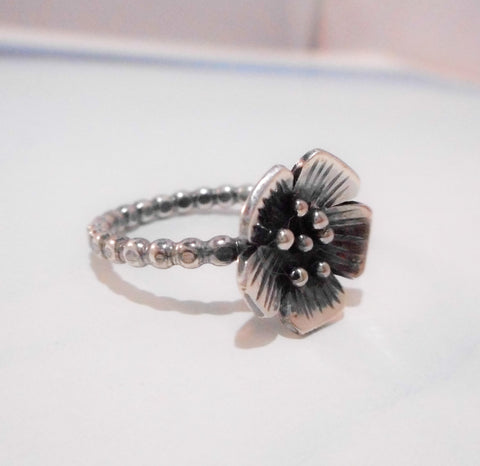 Apple Blossom // Wildflower Ring // Sterling Silver