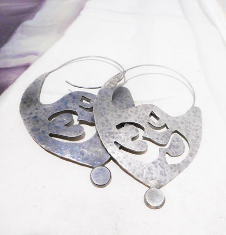 OM Earrings // Sterling Silver