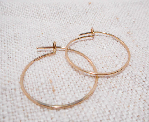 Simple Hoops // Small // Solid 14k Gold Hoops