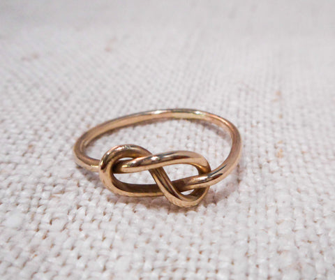 Relatively Love Knot Ring // Solid Gold Eternity Knot Ring – Tarnished & True DN28
