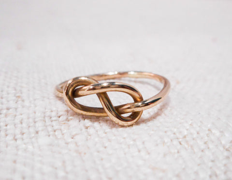 Love Knot Ring // Solid Gold Eternity Knot Ring