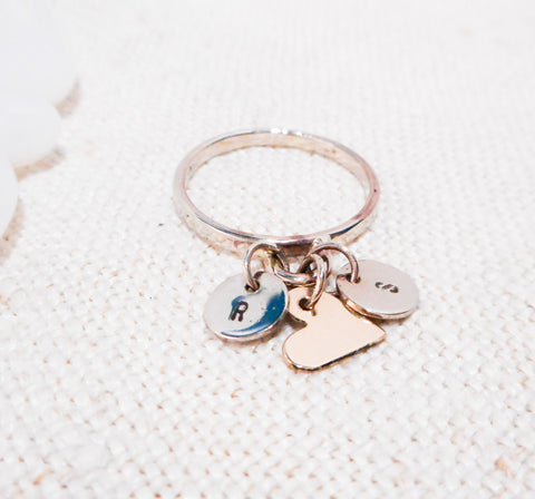 Love Notes // Charm Ring // Solid 14k Gold
