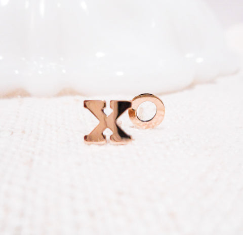 XOXO Earrings // Solid 14k Gold Posts