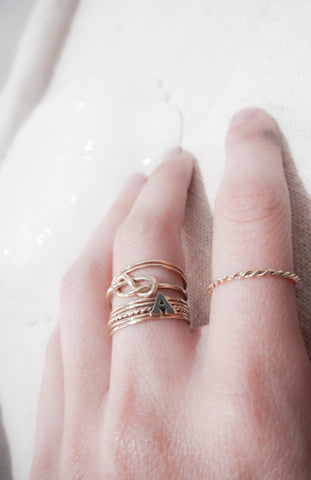 Hand Twisted Gold Ring Solid 14k Gold – Tarnished & True