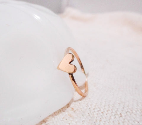 Heart of Gold Ring // Solid 14k Gold