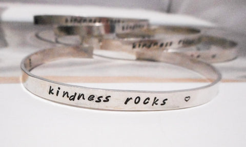 Hand Stamped Cuff Bracelet  // Personalized in Sterling Silver