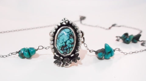 Secret Keeper Locket Necklace // Sterling Silver, Turquoise