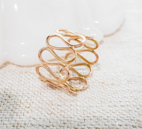 Gold Filigree Ring // Solid 14k Gold