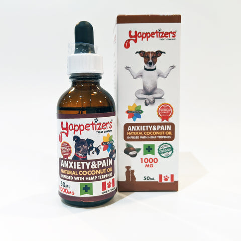 Yappetizers – Anxiety & Pain Hemp (Full Spectrum) 1000mg in Coconut Oil 50ml