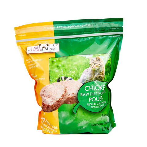 IrRAWsistible -  Bone-In Chicken Mini Patties for CATS 1.7kg
