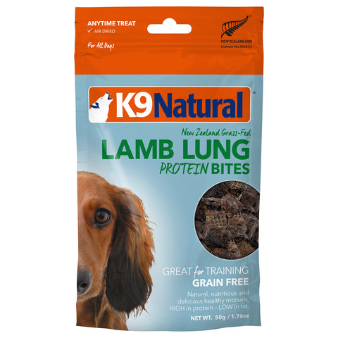 K9 Natural Lamb Lung Protein Bites 50g