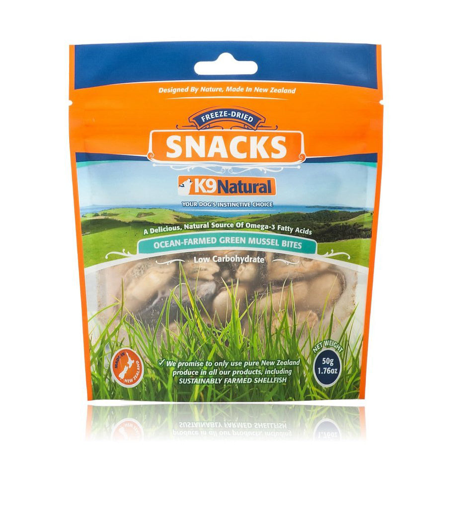 K9 Natural Freeze Dried Green Lipped Mussel Snacks 50gr