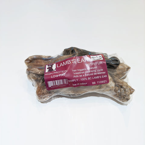 Noah's Ark - Dehydrated Lamb Ears (with fur) 150g