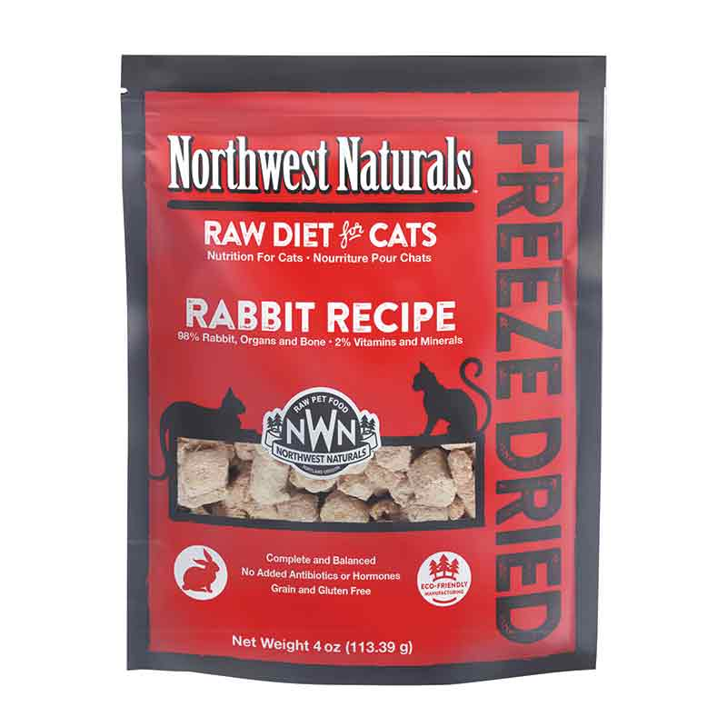 Northwest Naturals™ Rabbit Nibbles - Freeze Dried for Cats