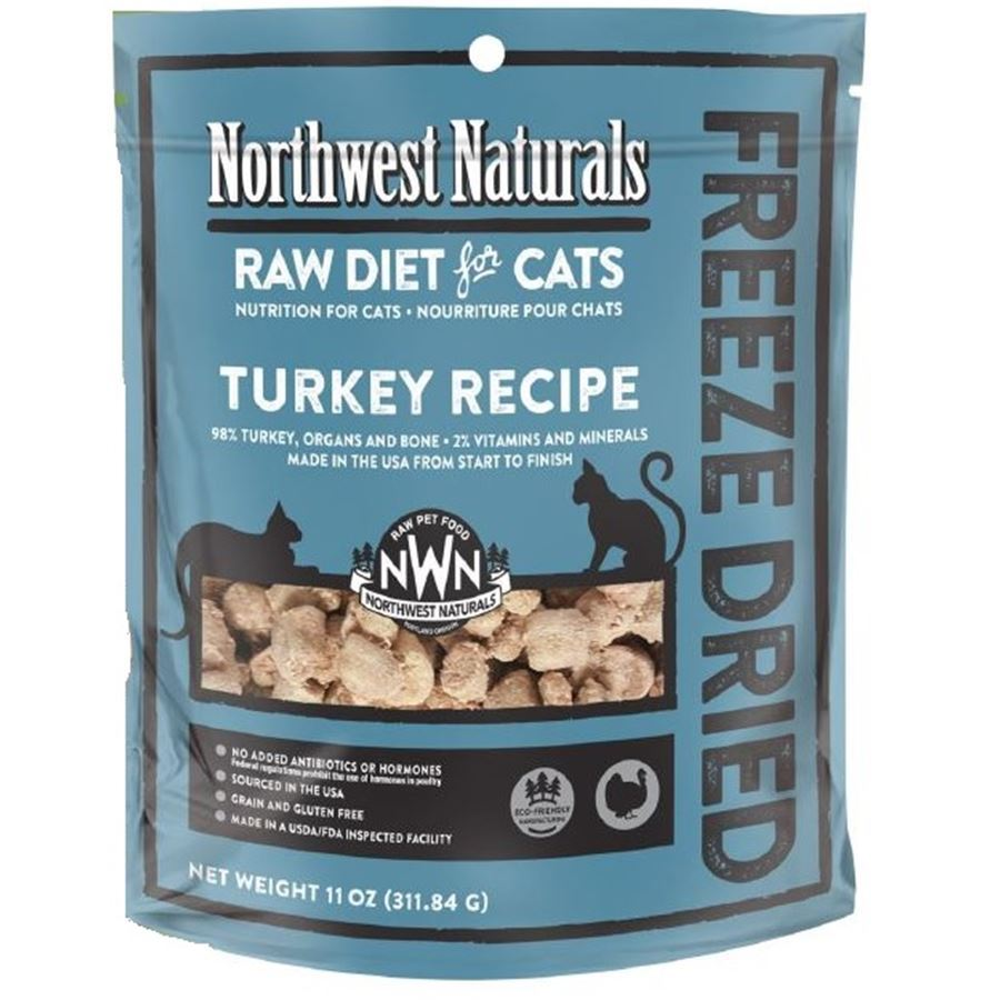 Northwest Naturals™ Turkey Nibbles - Freeze Dried for Cats