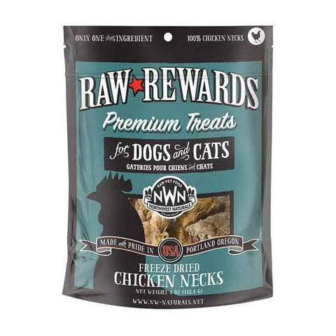 Northwest Natural Raw Rewards - Freeze Dried Chicken Necks 4oz