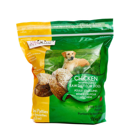 IrRAWsistible - Boneless Chicken Mini Patties for Dogs 1.8kg