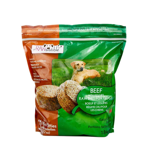 IrRAWsistible - Boneless Beef Mini Patties for Dogs 1.8kg