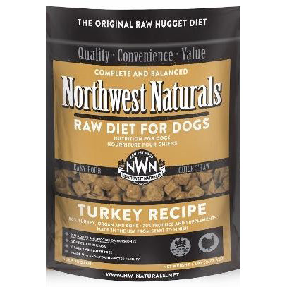 Northwest Naturals™ Turkey Nuggets - Raw Diet for Dogs