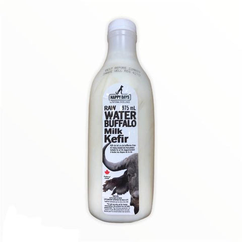 Happy Days Raw Water Buffalo Milk Kefir (Frozen) 975ml 1L