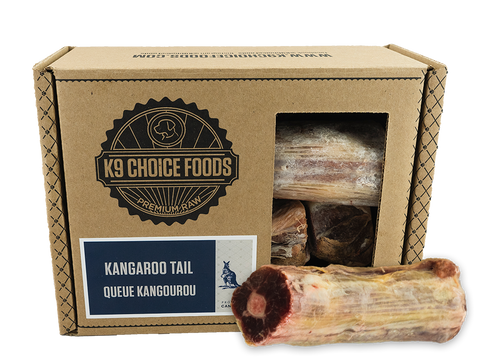 "K9 Choice Kangaroo Tail Slices Cut, 3""–6"" 3lb"