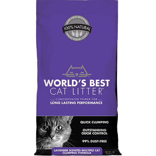 Worlds Best - Cat Litter - Lavender Multi