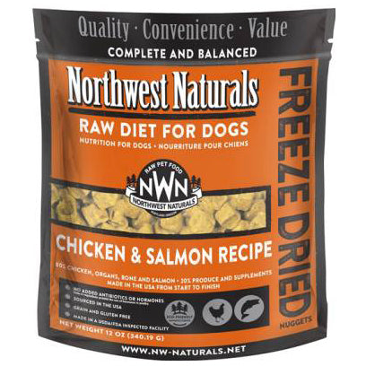 Northwest Naturals™ Salmon & Chicken Nuggets - Freeze Dried for Dogs