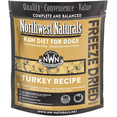 Northwest Naturals™ Turkey Nuggets - Freeze Dried for Dogs