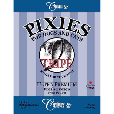 Carnivora - Pixies Mini Beef Tripe  2oz Patties