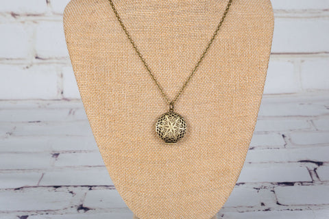 Personal Diffuser Necklace - Bronze Starburst
