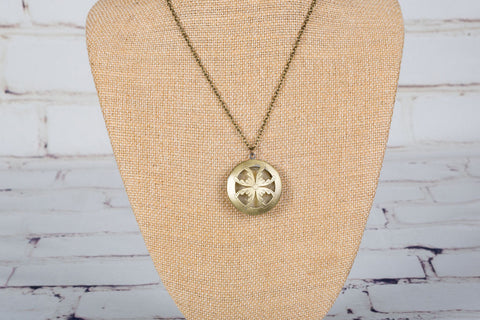 Personal Diffuser Necklace - Bronze Petals