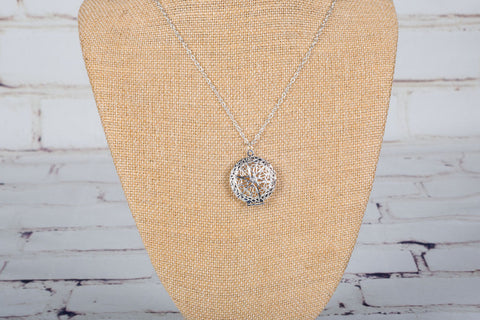 Personal Diffuser Necklace - Silver Starburst