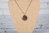 Personal Diffuser Rose Gold Aztec Design Necklace - Hypoallergenic Stainless Steel
