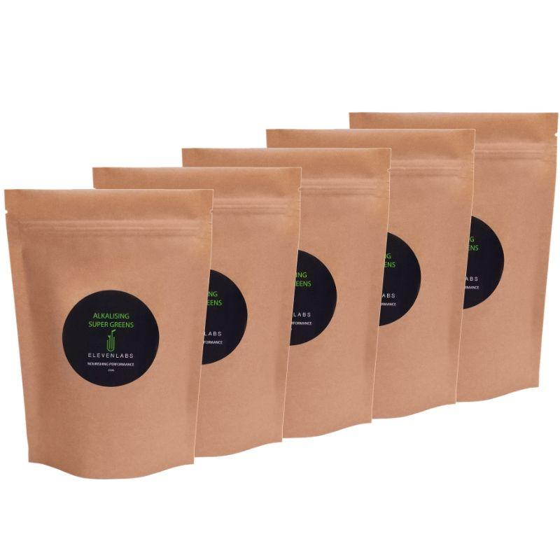 ElevenLabs Mega Bundle - Alkalising Super Greens 5 x 250g - SAVE over $57