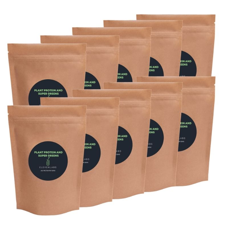 ElevenLabs Epic Bundle - Plant Protein and Super Greens 10 x 450g - SAVE over $85