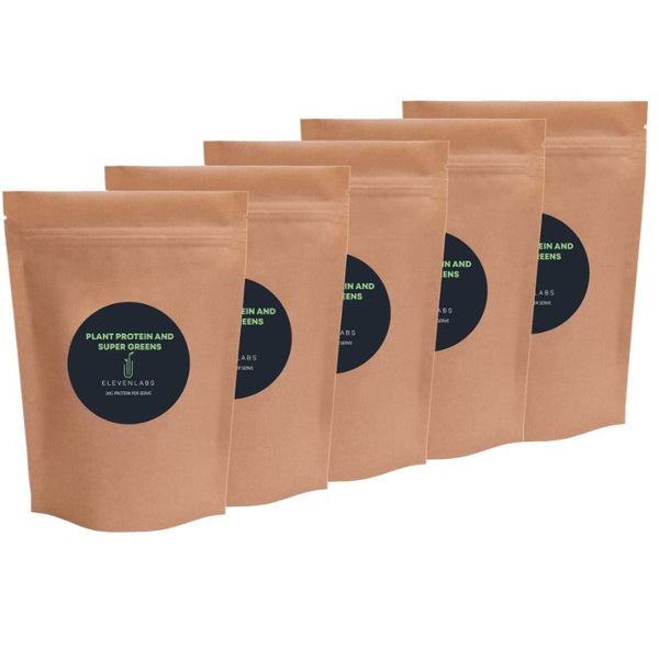 ElevenLabs Mega Bundle - Plant Protein and Super Greens 5 x 450g - SAVE $35