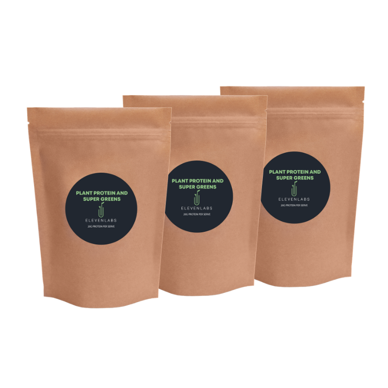 ElevenLabs Trio Bundle - Plant Protein and Super Greens 3 x 450g - SAVE over $15