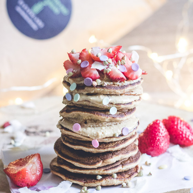 elevenlabs protein pancakes made from elevenlabs plant protein and super greens powder