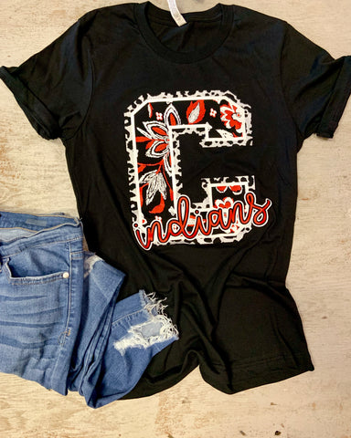Campbell Indians Paisley and Leopard Spirit Tee