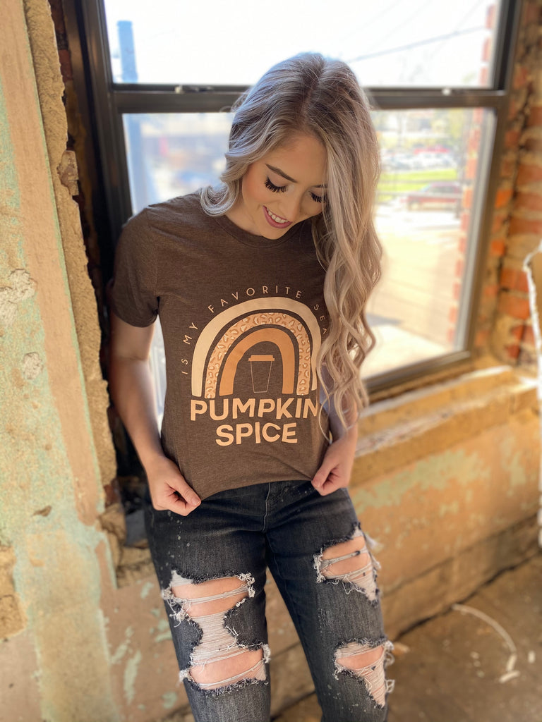 Taste the Pumpkin Spice Rainbow Unisex Tee