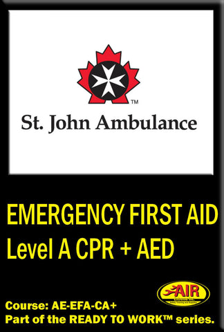 Emergency First Aid Level A CPR + AED Training Course (St. John Ambulance)