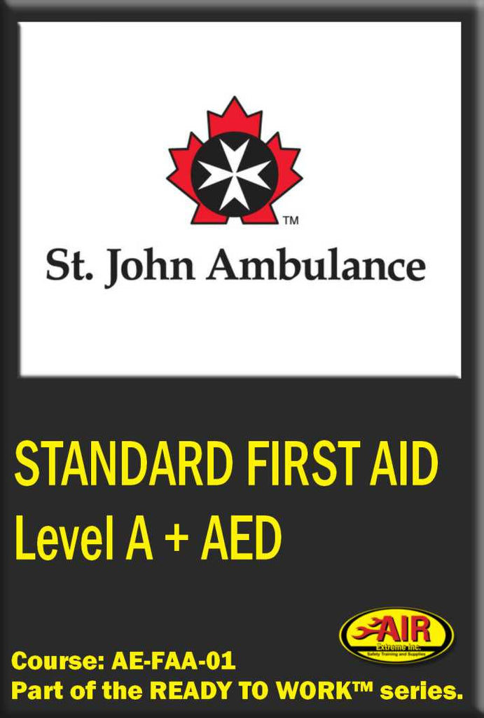 Standard First Aid with Level A CPR + AED Training Course (St.John Ambulance)