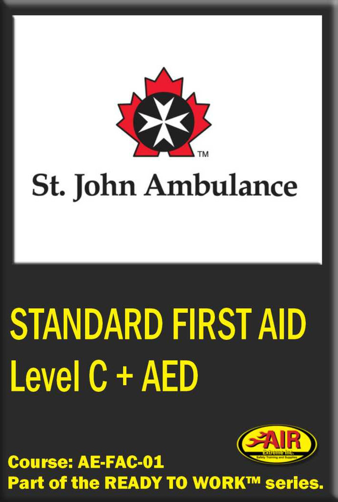 Standard First Aid with Level C CPR + AED Training Course (St.John Ambulance)