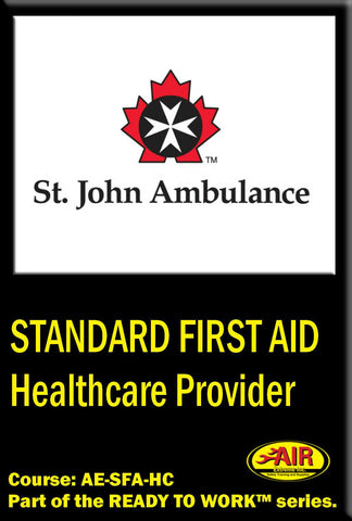 Standard First Aid with Health Care Provider (HCP) CPR Training Course (St. John Ambulance)