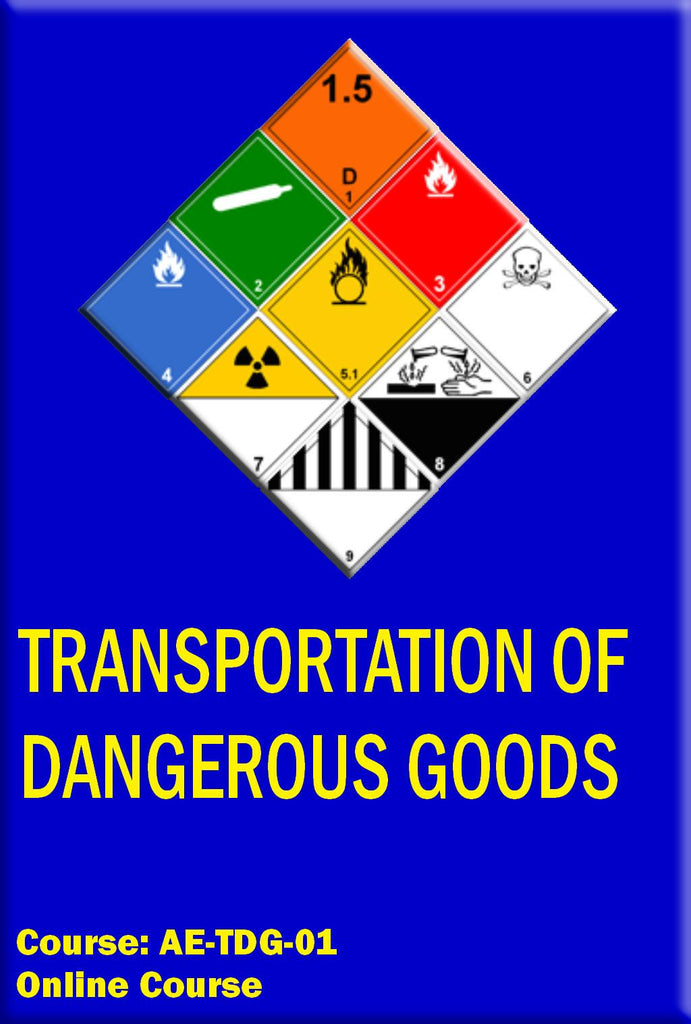 Transportation Of Dangerous Goods Training Course (TDG)