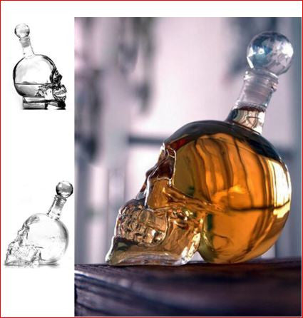 Skull Head Vodka Bottle