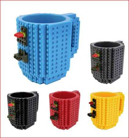 Brick Building Blocks Coffee Cup Block Puzzle Mug