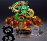 DBZ 7pcs PVC balls+Acrylic display shelf + Dragon