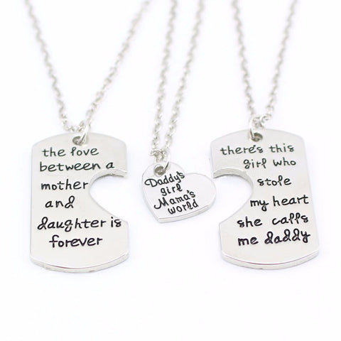 FREE 3 Piece Daddy's Girl Mama's World Necklace