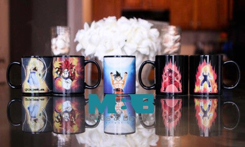 Super Sayain Characters Magic Mugs bundles